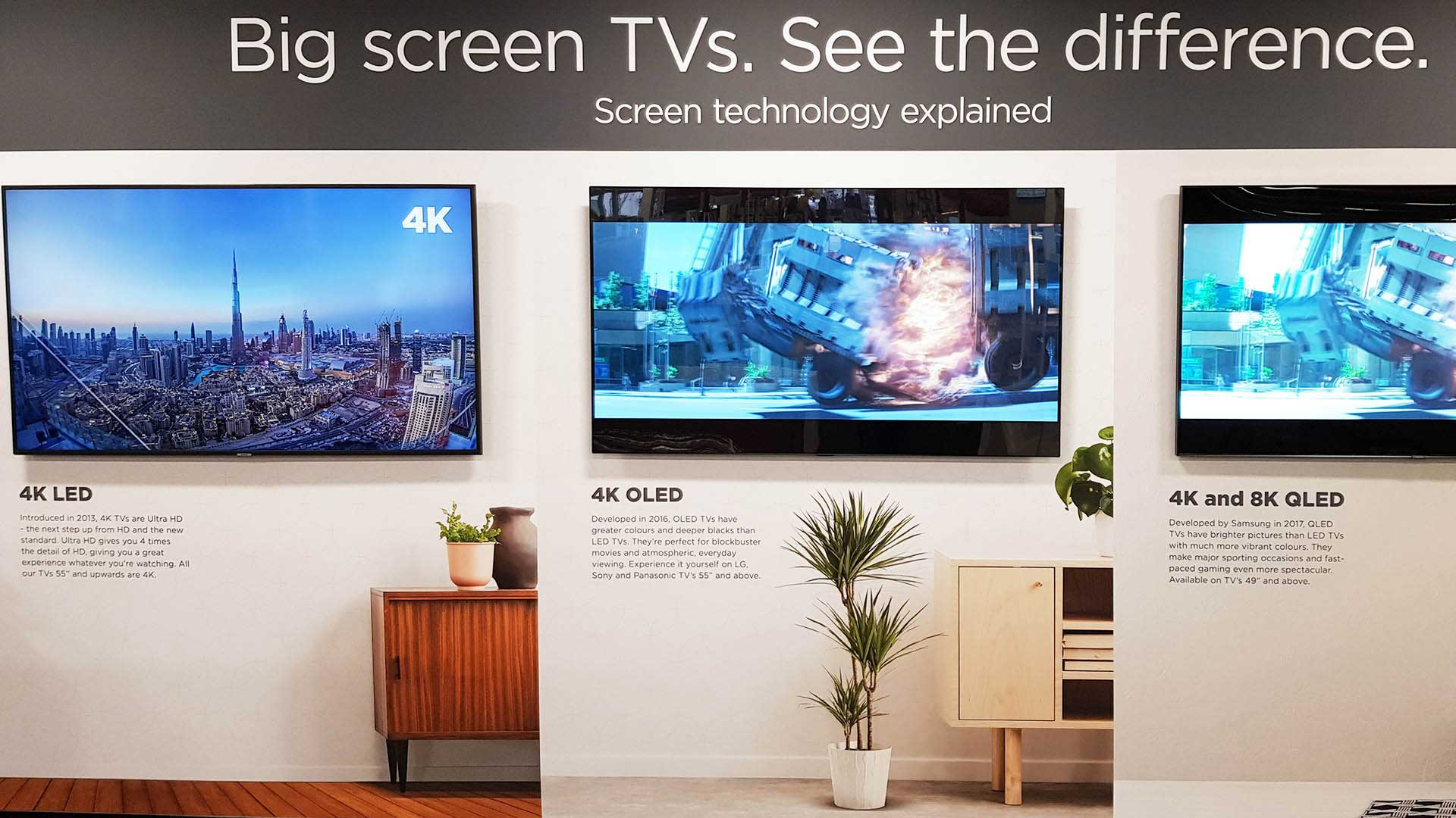 Which 4K Ultra HD Smart TV Apple Samsung Sony LG or Projector