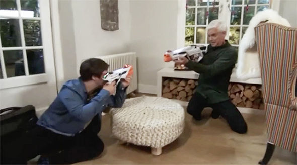 Phillip revealed the best toy this year is the Nerf Laser Ops Pro Blaster