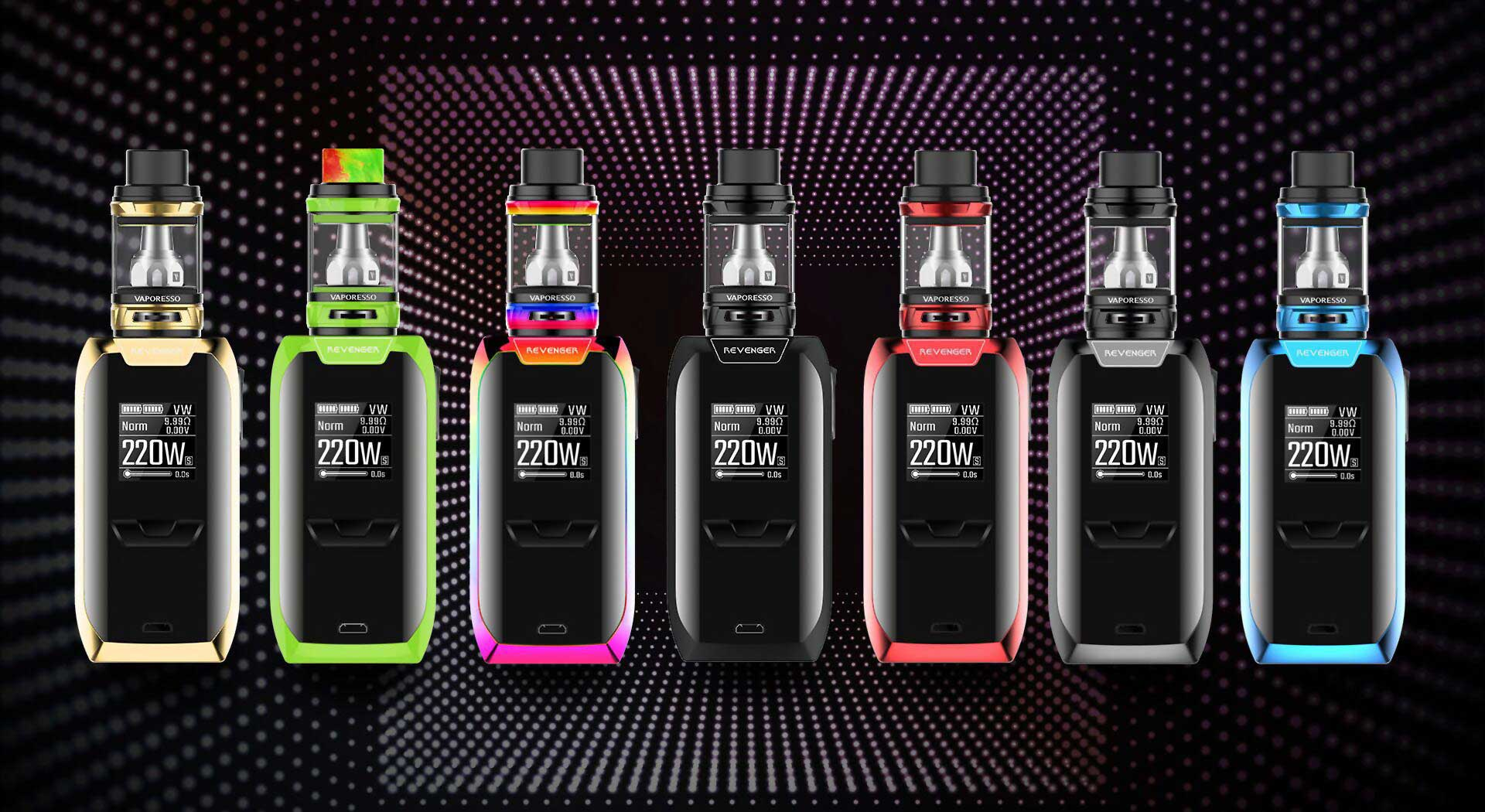 The Revenger by Vaporesso utilizes an advanced chipset OMNI Board 2.0 up to 220W vaping.