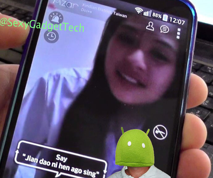 FREE Video Chat Calls Flirt with Girls Phone Camera on Android Google Play Tablet App Azar 视频聊天