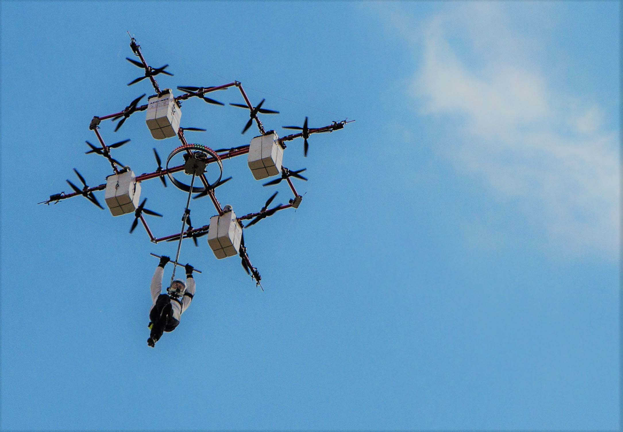 Worlds First Jumping From A Moving Drone Is The Latest Craze.