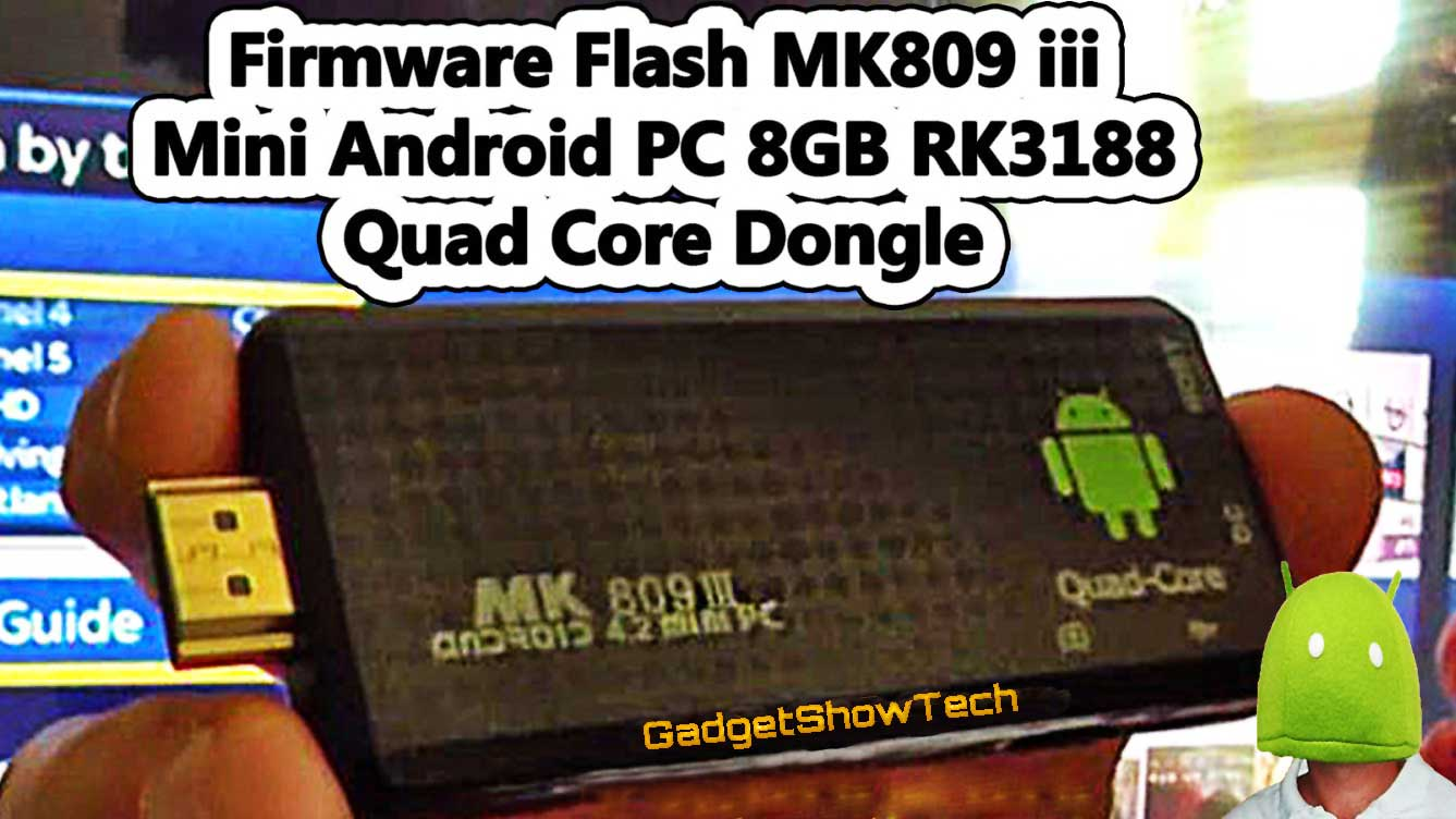 How To *Update* ROM Firmware Flash on HDMI Dongles