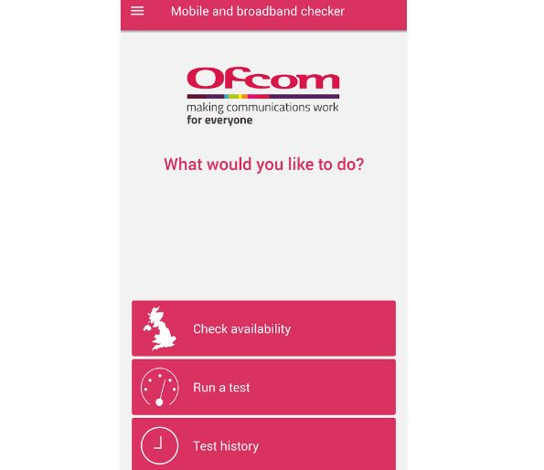 Ofcom broadband and mobile checker app