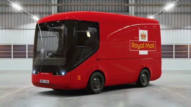 Royal Mail unveils new electric post Van made by Arrival