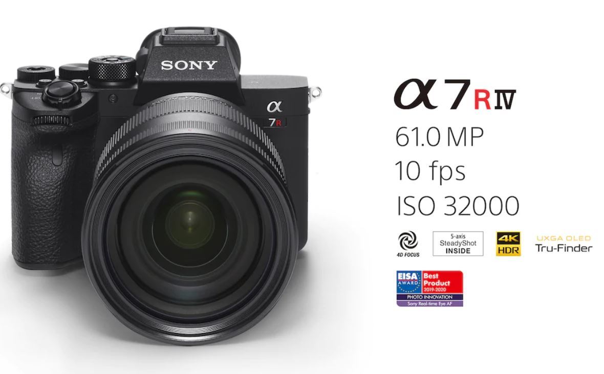 SONY α7R IV 35mm full-frame camera with 61.0MP