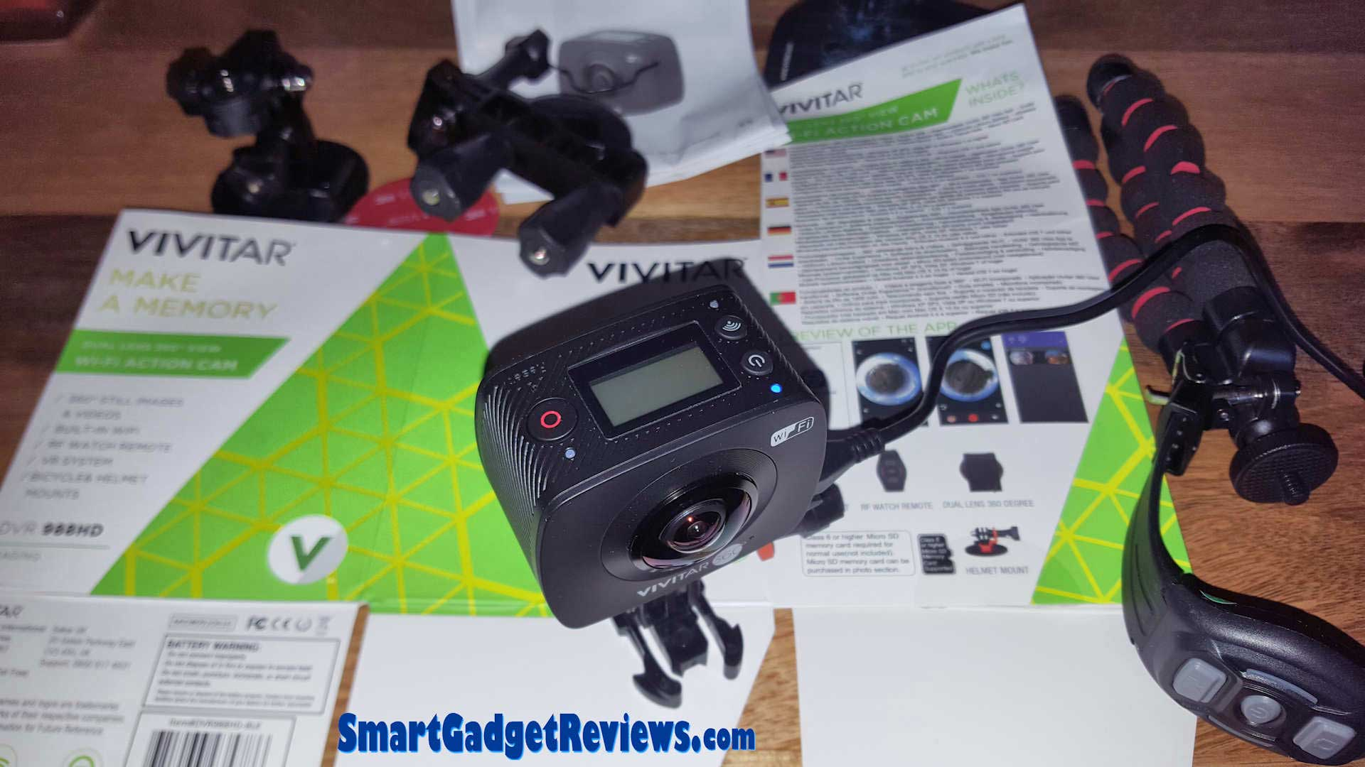 VIVITAR DVR 988HD 360 4K Action Cam Review & Rating Video Tests