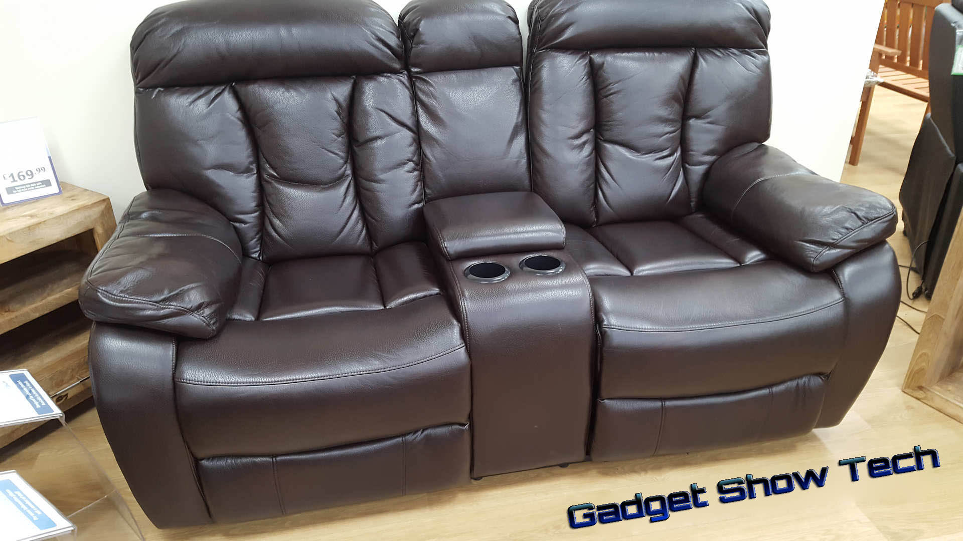 Woodville Two Seater Console Recliner sofa
